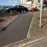 New access slope to Petersfield Railway Station car park