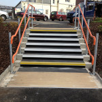 New access steps to Petersfield Railway Station car park