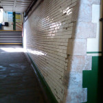 Queenstown Road Railway Station Subway - before re-tiling project